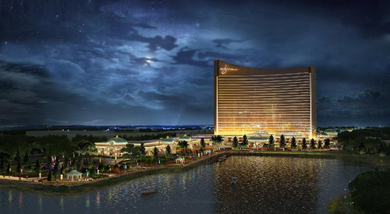 A rendering of the proposed Wynn Everett Resort. [