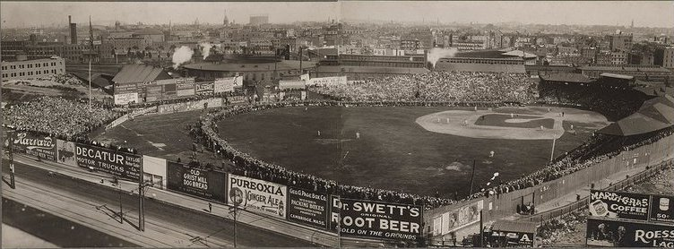 The Huntington Avenue Grounds, land that is now pa