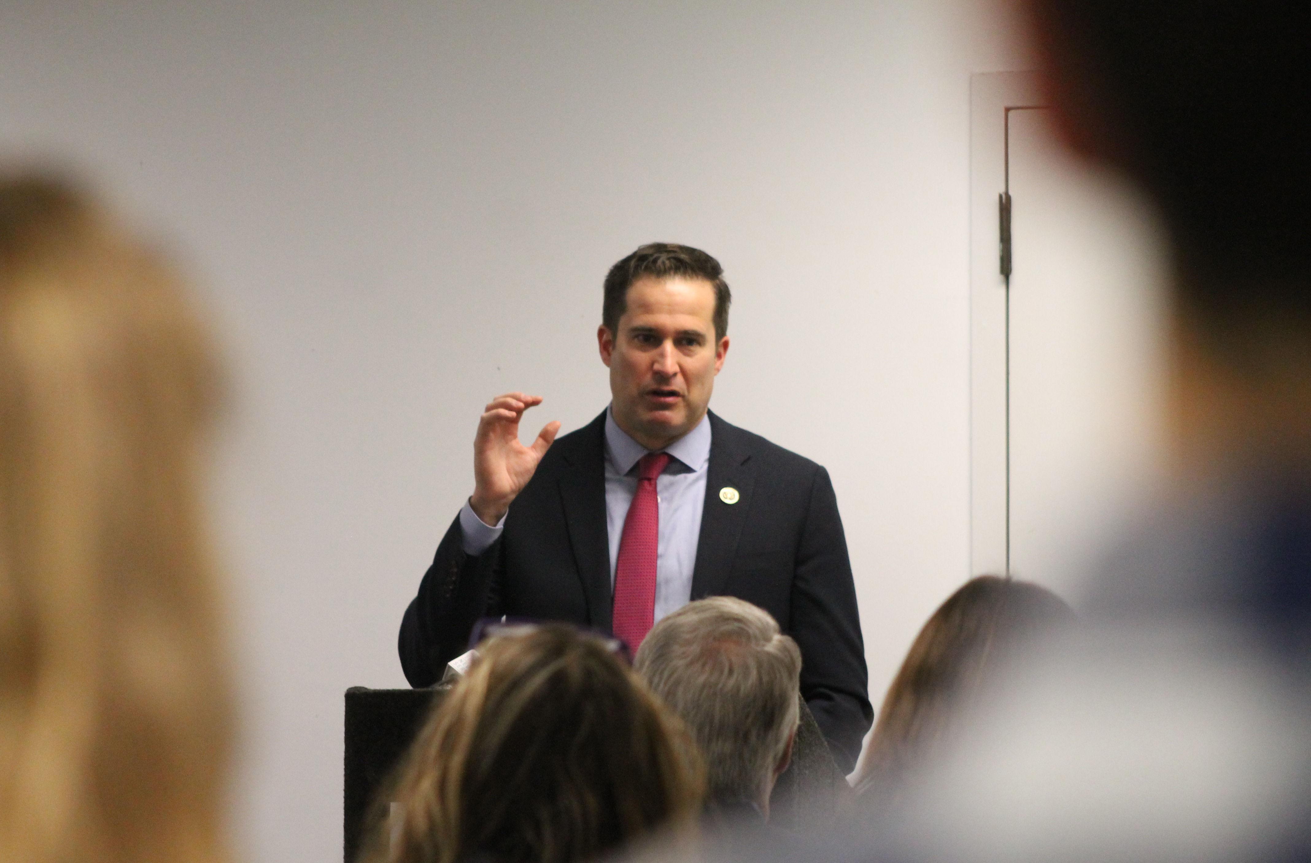 At a Monday forum, Congressman Seth Moulton reiter