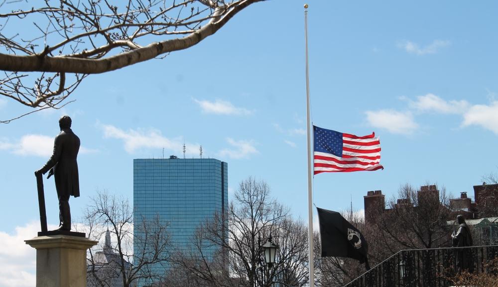 Gov. Charlie Baker ordered flags to half-staff on