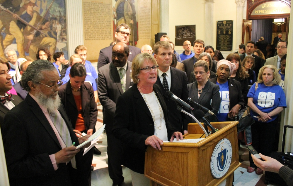 Rep. Mary Keefe and other lawmakers on Tuesday cal
