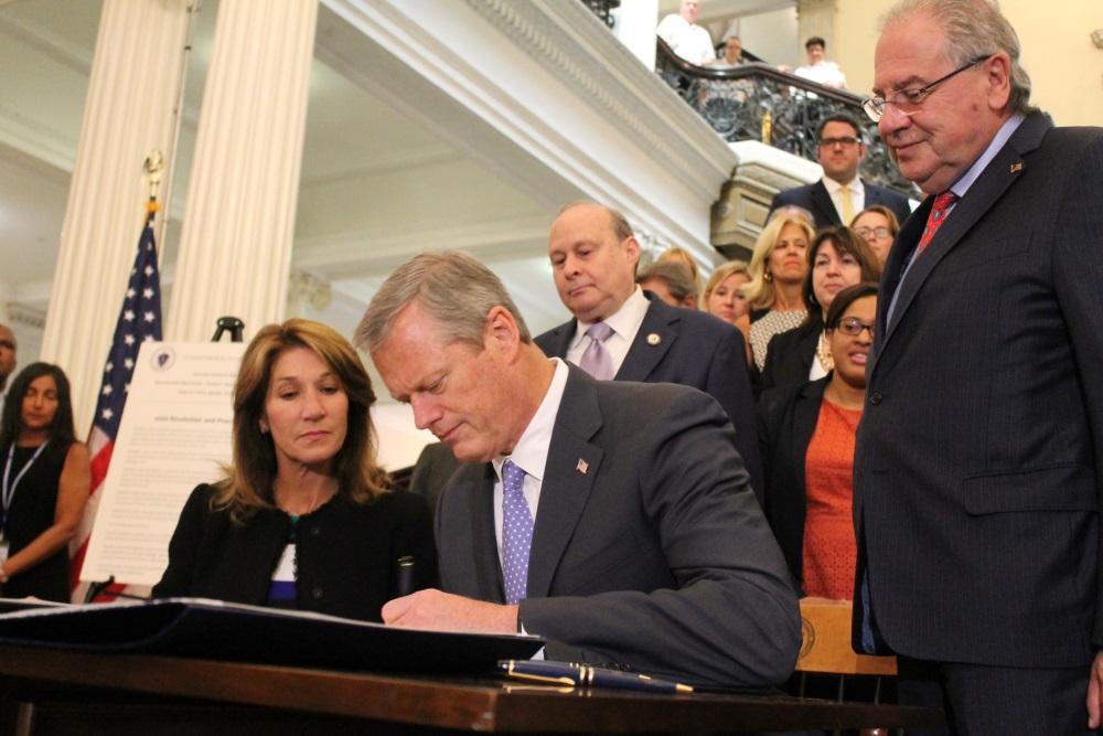 Gov. Charlie Baker signed a proclamation Thursday