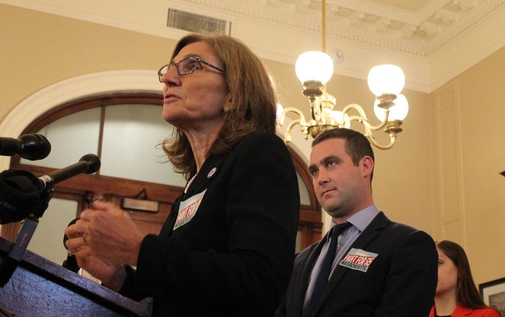 Sen. Cindy Friedman (left) has taken up the minimu