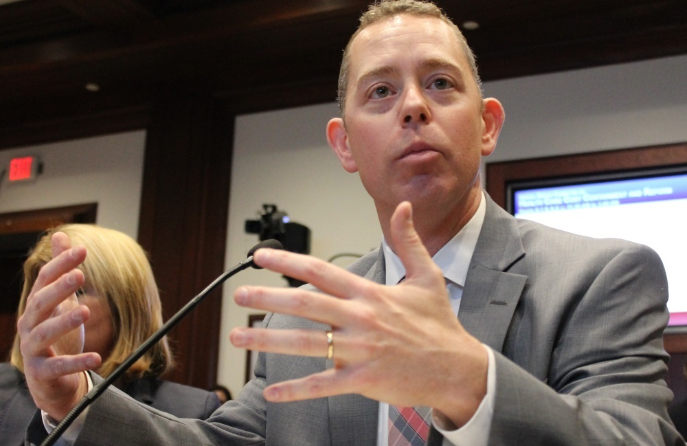 Eric Linzer testified Monday afternoon at a Senate