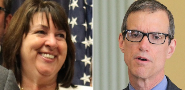 Rep. Claire Cronin and Sen. Will Brownsberger, co-