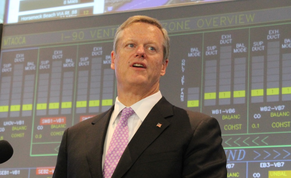 Gov. Charlie Baker said Tuesday he supports a ban