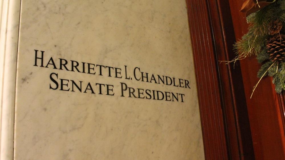 Acting Senate President Harriette Chandler's name