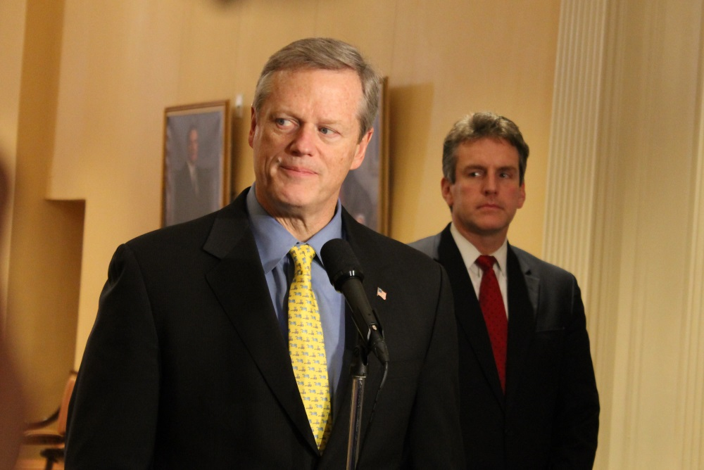 Gov. Charlie Baker and his Housing and Economic De