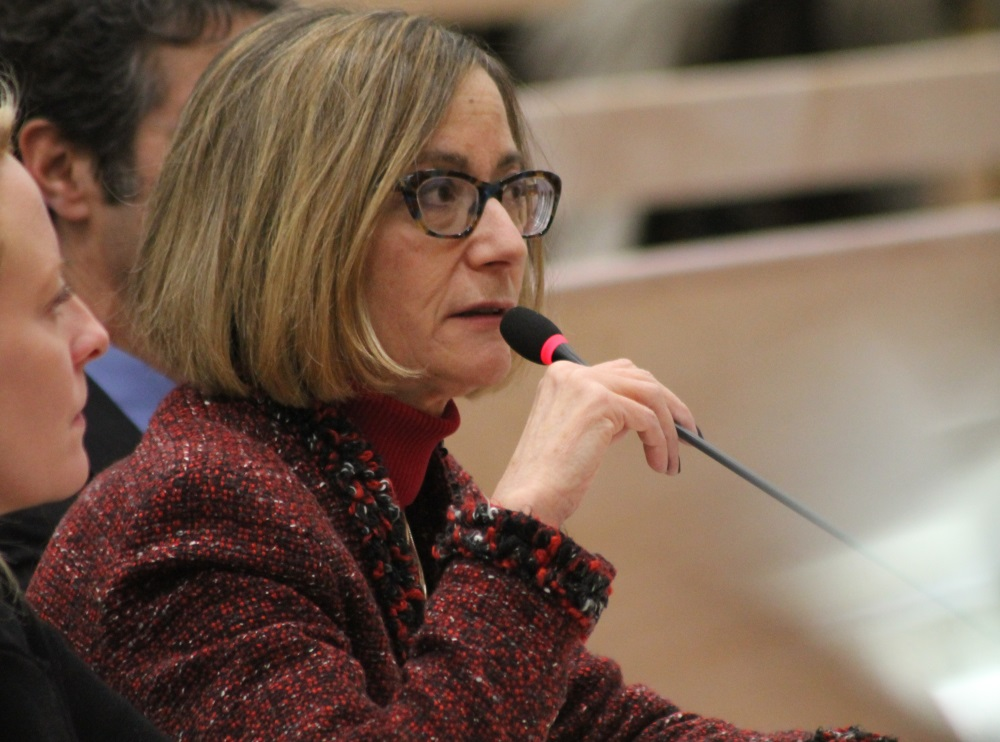 "Group Insurance Commission Executive Director Roberta Herman testified at a January 2018 hearing that the agency's proposed health plan consolidation caused ""overwhelming anxiety."" [Photo: Sam Doran/SHNS/File]"