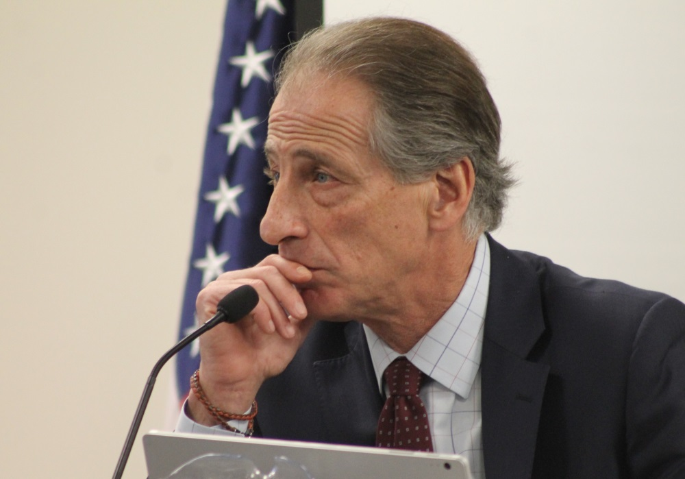Cannabis Control Commission Chairman Steven Hoffman, pictured in a file photo, said Thursday that the CCC is prepared to find and punish any instances where investors violate regulations. [SHNS/File 2018]