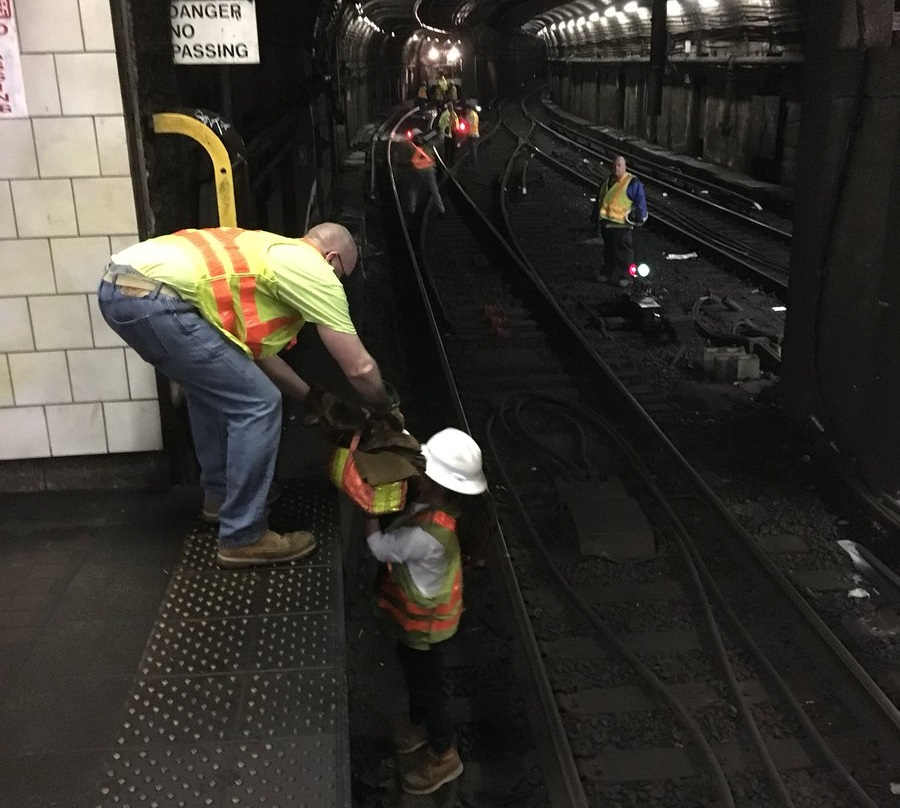 MBTA crews made repairs to the Red Line Wednesday