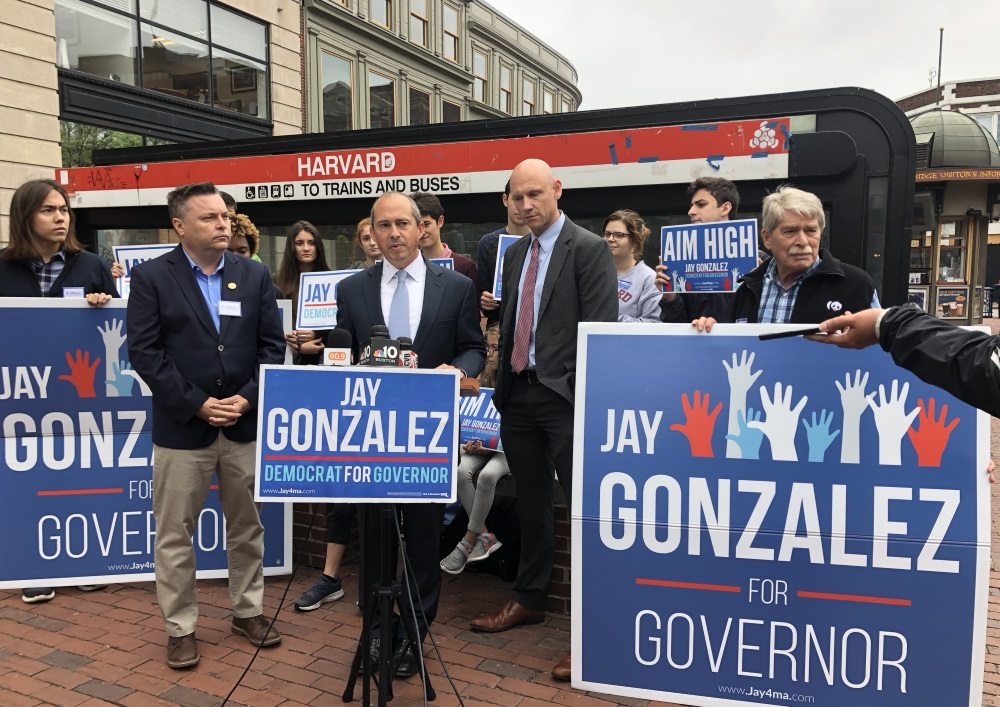 Gubernatorial candidate Jay Gonzalez discussed his