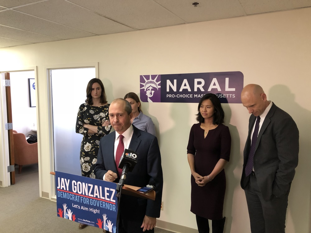 Democrat for governor Jay Gonzalez criticized Gov.