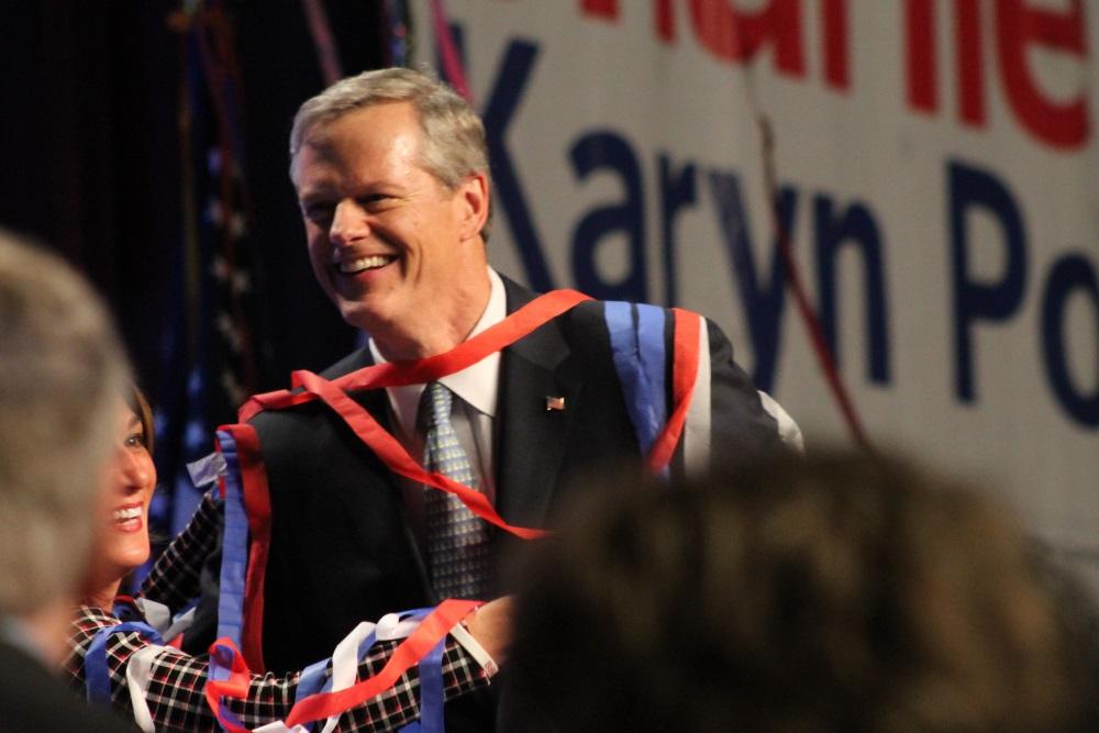 Gov. Charlie Baker celebrated his second term win