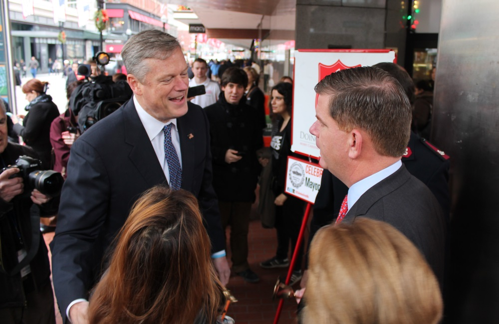 Boston Mayor Marty Walsh (right) said Tuesday that