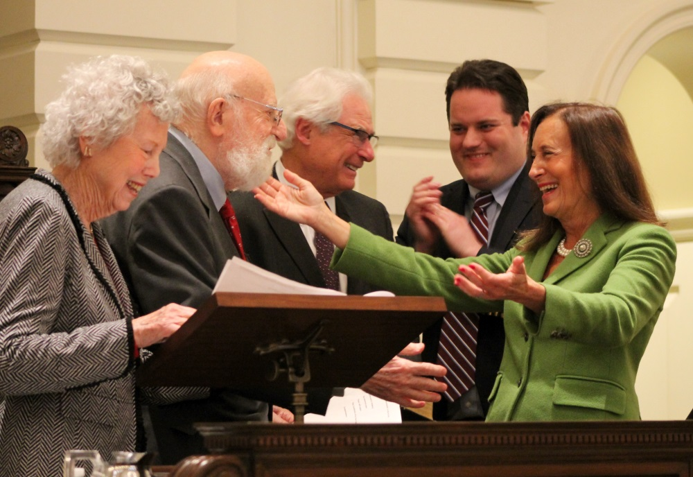 Treasurer Deborah Goldberg was sworn in to a secon