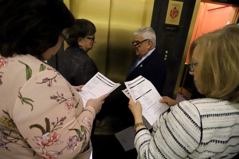 Representatives studied a list of new leadership a