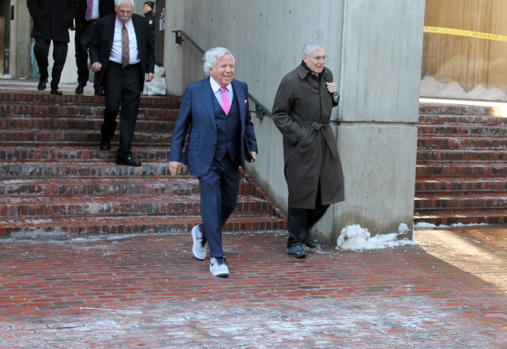 Robert Kraft, who was charged following a probe in