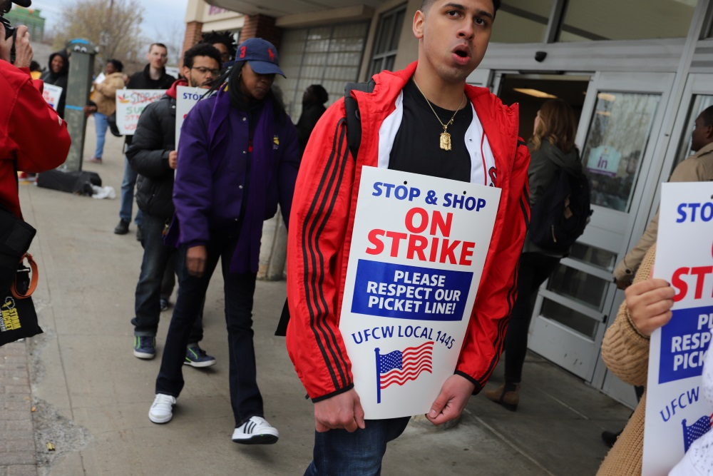 Stop & Shop workers picketed Thursday outside the