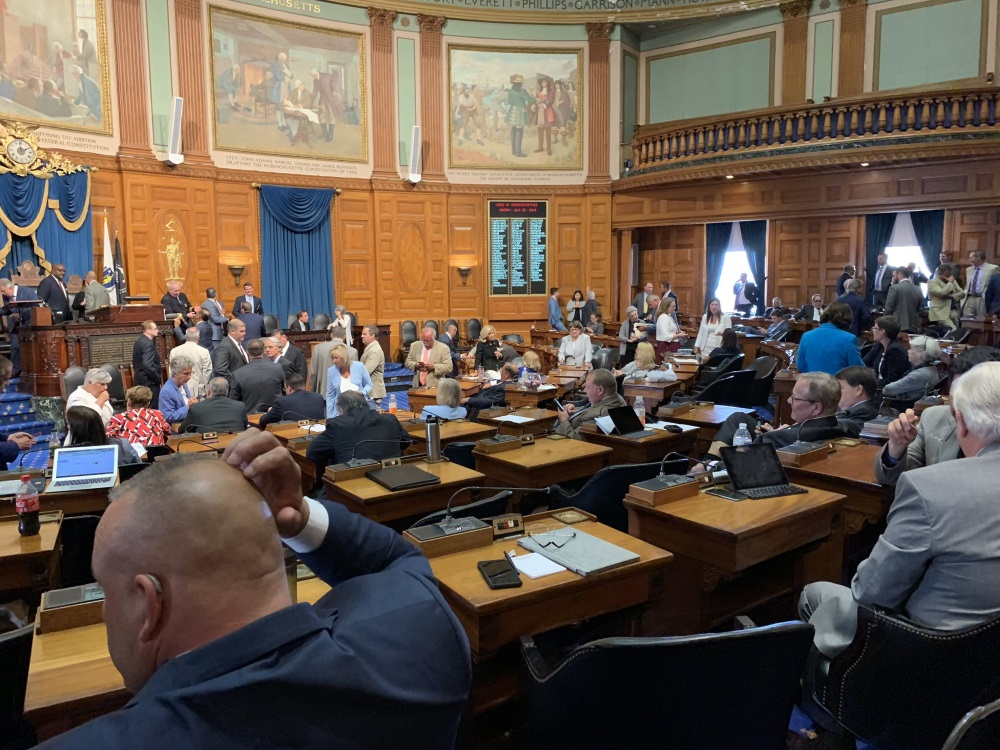 Representatives were in the House Chamber on Monda