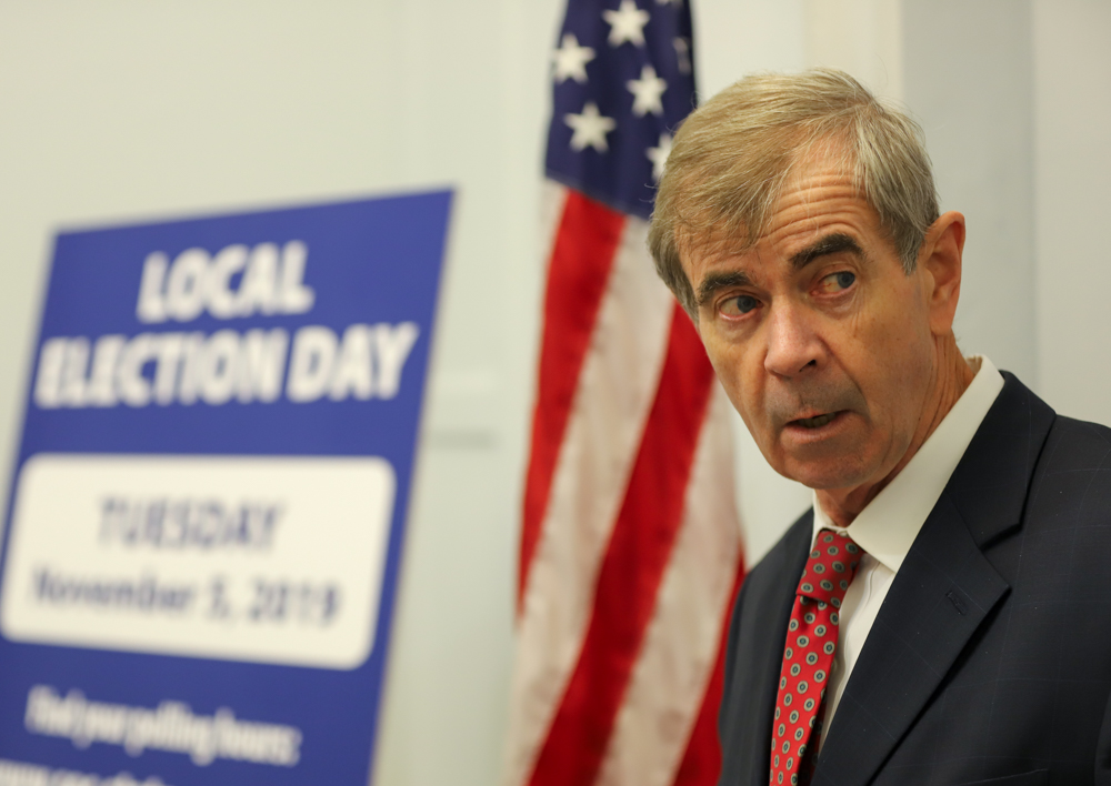 "Secretary William Galvin: ""I don't think I got any political benefit."" [Photo: Sam Doran/SHNS/File 2019]"