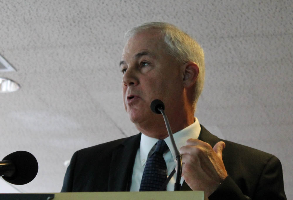 MBTA Interim General Manager Frank DePaola addressed the new MBTA Fiscal and Management Control Board at their inaugural meeting on July 21, 2015. [Photo: Sam Doran/SHNS/File 2015]
