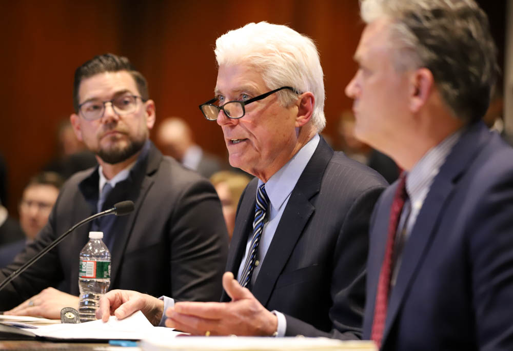 """Convention Center Authority executive director David Gibbons told lawmakers that """"the selling of the Hynes (Convention Center) is not a quick firesale, as I have been accused of."""" [Photo: Sam Doran/SHNS]"""