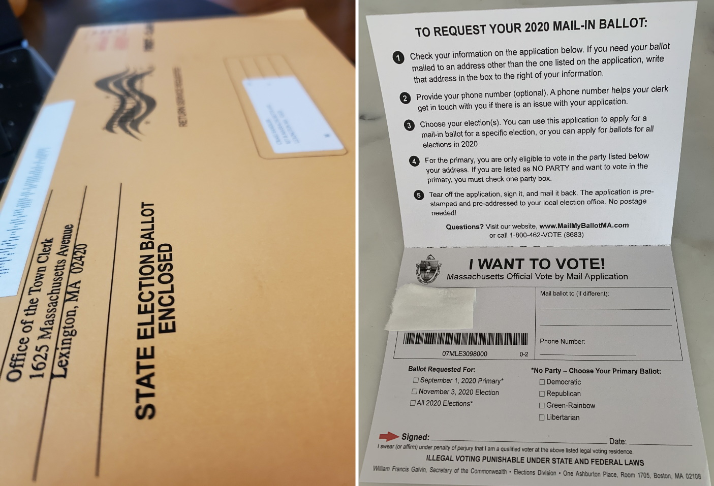 Local officials say the sheer volume of ballot applications coming in — and the truncated timeline in which they must be processed — has been a significant challenge. [SHNS]