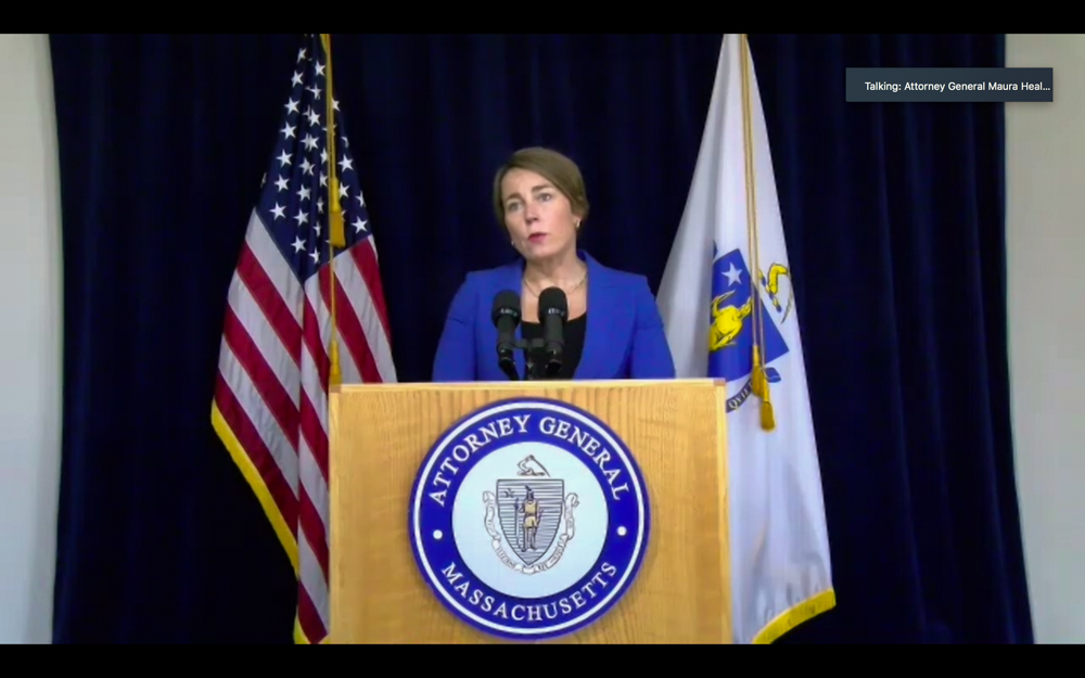 Attorney General Maura Healey announced criminal charges Friday against two top leaders at Holyoke Soldiers' Home. [Screenshot]