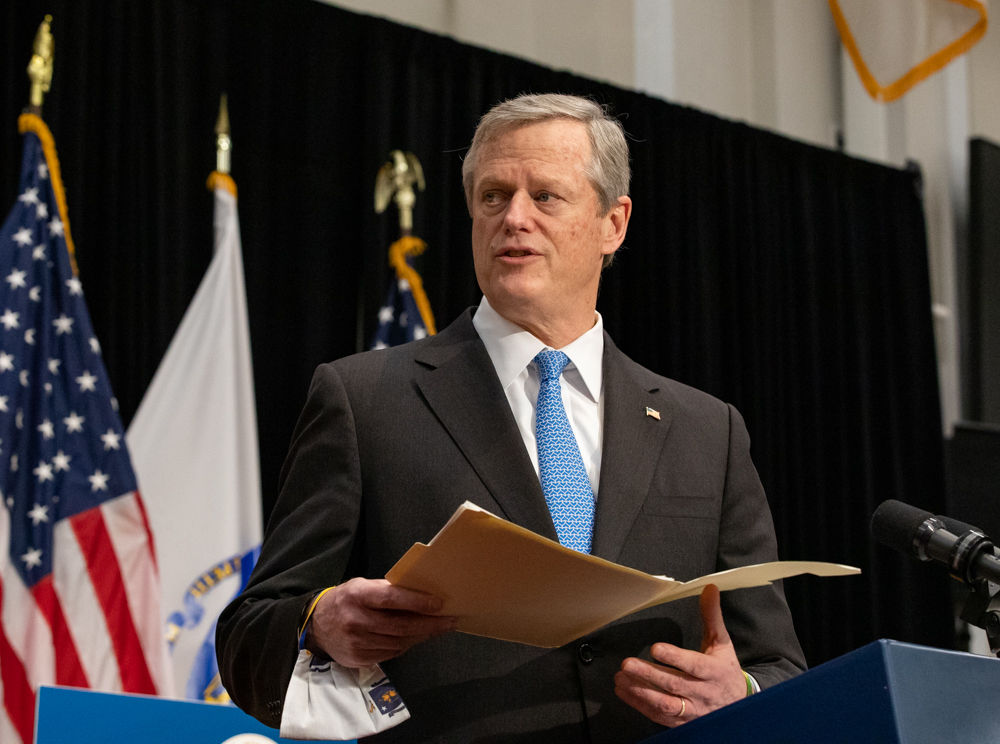 Uncaptioned image for story: Lights Quickly Dim on Baker's Tax Relief Plan